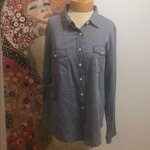 J.Crew Jean Button Down Boyfriend Shirt